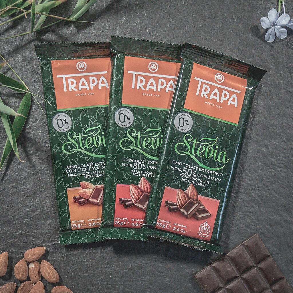 Trapa Stevia Schokolade Vollmilch (75 g) - anyway24.de