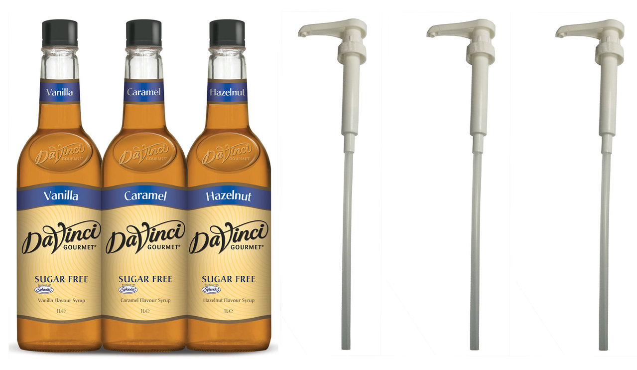 Da Vinci Gourmet 6x1 L LIGHT Sirup & 3 Pumpen im Set